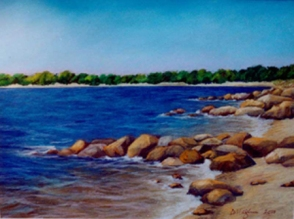Sag Harbor Painting by Dawn Nagle - www.dawnnaglegallery.com
