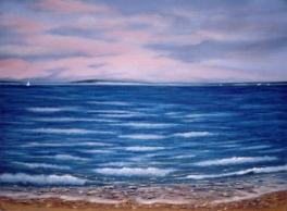 Noyack Bay Painting by Dawn Nagle - www.dawnnaglegallery.com