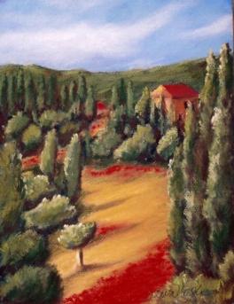 Italy painting by Dawn Nagle - www.dawnnaglegallery.com