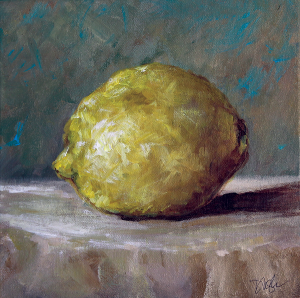 Lemon painting by Dawn Nagle