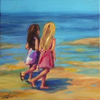 Sisters painting by Dawn Nagle