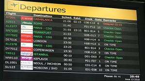 Departures list
