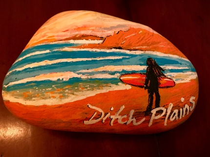 Ditch Plains shell painting - www.dawnnaglegallery.com