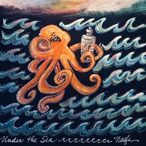 Curious Octopus painting - www.dawnnaglegallery.com