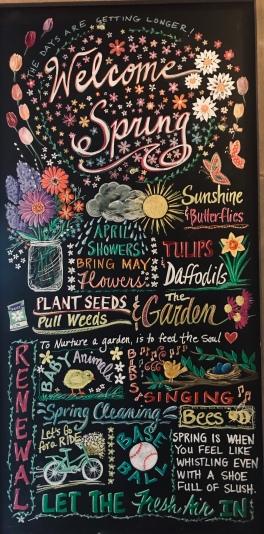 Spring chalkboard art - www.dawnnaglegallery.com