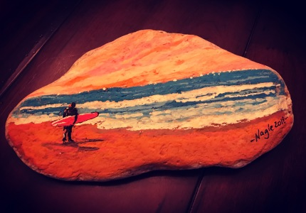surfs up shell painting - www.dawnnaglegallery.com