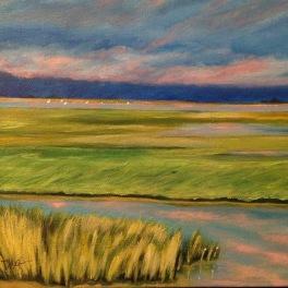 Tidal Marsh painting - www.dawnnaglegallery.com